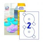 �������� ��� CD/DVD Avery Zweckform L7676-25, �����, d=117��, 2�� �� ����� �4, 25 ������, 50��, ��� ���� ����� ������