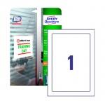 Этикетки самоламинирующиеся Avery Zweckform удаляемые L7087-10, белые глянцевые, 170x257мм, 1шт на листе, 10 листов, 10шт, для струйной печати