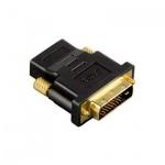 Адаптер Hama HDMI-DVI-D 24+1-pin (f-m) черный, H-34035