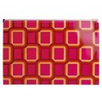 Пластиковая папка на молнии Бюрократ Fusion ассорти, 200мкм, А4