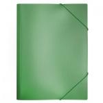 Пластиковая папка на резинке Бюрократ зеленая, A4, 15мм, PR04grn