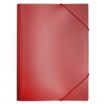 Пластиковая папка на резинке Бюрократ, A4, 15мм, красная