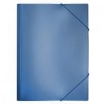 Пластиковая папка на резинке Бюрократ, A4, 15мм, синяя