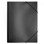 Пластиковая папка на резинке Бюрократ, A4, 15мм, черная