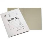 Папка-обложка картонная Бюрократ Дело белая, А4, 320 г/м2, без механизма, PO320M