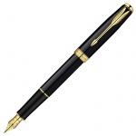 Ручка перьевая Parker Sonnet F530 F, черный/золотой корпус