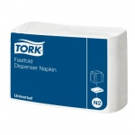Диспенсерные салфетки Tork Universal N2, 10903, 1 слой, 250шт, белые