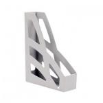 Накопитель вертикальный для бумаг Стамм Лидер А4, 70мм, серый, 2шт, ЛТ127