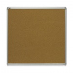 Доска пробковая 2x3 TMС 1212 120x120см, коричневая, алюминиевая рама, двусторонняя