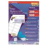 Визитные карточки Decadry белые, 85х54мм, 200г/м2, 50листов