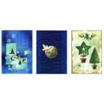 Открытки рождественские Decadry рисунок, А4, 6 шт (3 вида х 2 шт), 12012