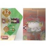 Открытки рождественские Decadry рисунок, А5, 12 шт (6 видов х 2 шт), 12011