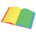 Блокнот Viquel А5, 90 листов, нелинованный, на сшивке, с цветными страницами, ламинированный картон