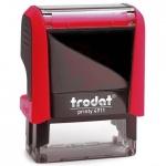 Оснастка для прямоугольной печати Trodat Printy 38х14мм, красная, 4911