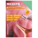 Обложки для переплета пластиковые Office Kit PYMA400180, А4, 180 мкм, 100шт, Модерн, зеленые