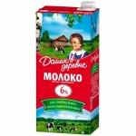 Молоко Домик В Деревне 6%, 950г, ультрапастеризованное