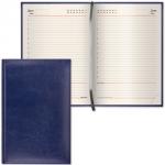 Ежедневник недатированный Brauberg Imperial темно-синий, А6, 160 листов, под гладкую кожу