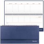 Планинг недатированный Brauberg Select темно-синий, 14х30.5см, 60 листов, под зернистую кожу