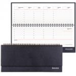 Планинг недатированный Brauberg Select черный, 14х30.5см, 60 листов, под зернистую кожу