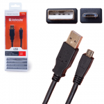 Кабель micro USB Defender Gold, A-B-micro (m-m), 1.8 м