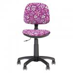 Кресло детское Nowy Styl Swift GTS ткань, розовая, с рисунком, крестовина пластик