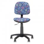 Кресло детское Nowy Styl Swift GTS ткань, синяя, с рисунком, крестовина пластик