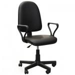 Кресло офисное Бюрократ Престиж иск. кожа, черная, крестовина пластик