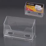 Подставка для визитных карточек Brauberg Contract на 50 визиток, прозрачная, 100х40х65мм