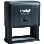 Оснастка для прямоугольной печати Trodat Printy 70х30мм, черная, 4931
