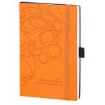 Записная книжка Infolio Fiore оранжевая, А6, 96 листов, 9х14см