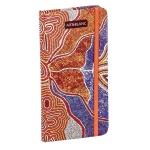 Блокнот Art-Blanc Australia, А7, 96 листов, в линейку, на сшивке, ламинированный картон, с резинкой