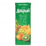 Сок Добрый мультифрукт, 1.5л