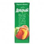 Сок Добрый персик-яблоко, 1.5л