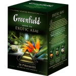 Чай Greenfield Exotic Asai (Экзотик Асаи), зеленый, в пирамидках, 20 пакетиков