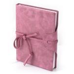 Записная книжка Brunnen Бижу розовая, А6, 96 листов, в клетку, под замшу