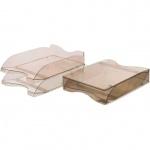 Лоток горизонтальный для бумаг Стамм Люкс А4, коричневый, 2 шт/уп, ЛТ607