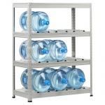 Стеллаж металлический Практик SB, 4 полки, для хранения воды, 12501000х420мм