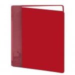 Папка файловая Бюрократ BPV40 красная, А4, на 40 файлов, BPV40RED