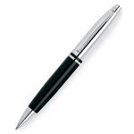 Ручка шариковая Cross Calais 1мм, черная, хром/черный корпус, AT0112-2