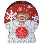 Чай Hilltop Снежный шар Морозные узоры, черный, листовой, 100 г, ж/б