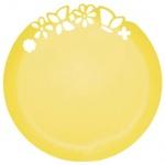 Блюдо одноразовое Buffet с ажурным краем, d=27.3см, 3шт/уп, желтый