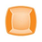 Тарелка одноразовая Buffet желтая, 18см, квадратная плоская, 6шт/уп