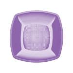 Тарелка одноразовая Buffet, 18см, квадратная глубокая, 6шт/уп, сиреневый