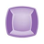 Тарелка одноразовая Buffet квадратная сиреневая, 18см, 6шт/уп