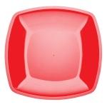 Тарелка одноразовая Buffet, 23см, квадратная плоская, 6шт/уп, красный