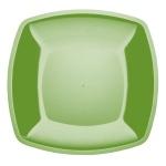 Тарелка одноразовая Buffet, 23см, квадратная плоская, 6шт/уп, салатовый