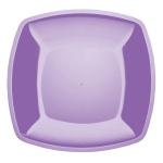 Тарелка одноразовая Buffet, 23см, квадратная плоская, 6шт/уп, сиреневый