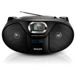 Магнитола Philips AZ385/12 черная, CD/CD-R/CD-RW/MP3-CD/USB/WMA-CD