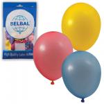 Воздушные шары Веселая Затея 12 пастельных цветов, 25см, 50шт, в пакете, 1101-0031