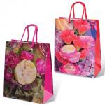 Пакет подарочный Grandgift цветы 18х23х10см, ассорти, 7431